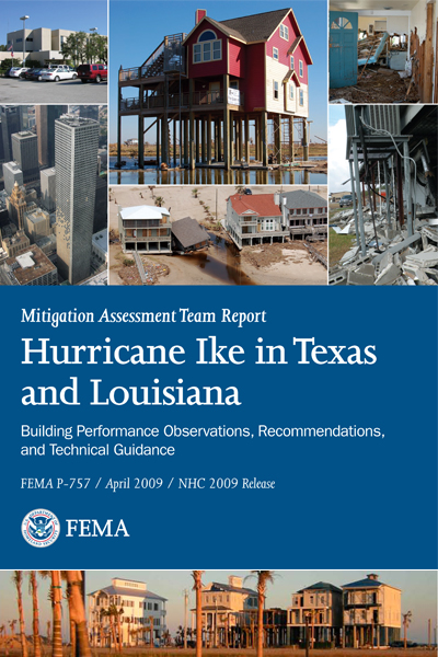 Feature photograph of FEMA Mitigation Assessment Report Hurricane Ike