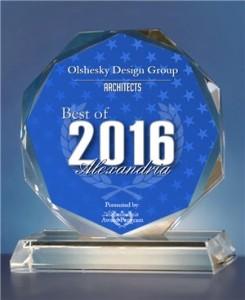 2016 Best of Alexandria Crystal Award